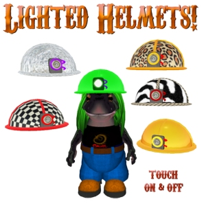 Lighted helmets for safari, construction, and prim mines!